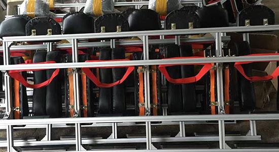 消防车空气呼吸靠背支架